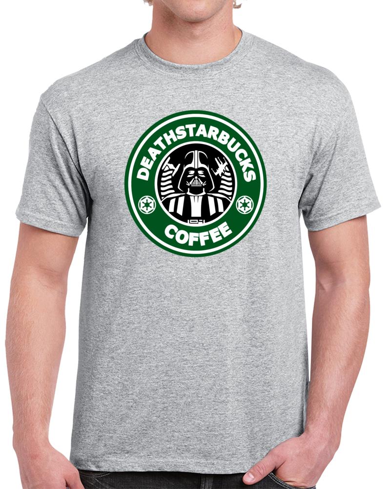 Death Starbucks Coffee Star Wars Darth Vader  T Shirt