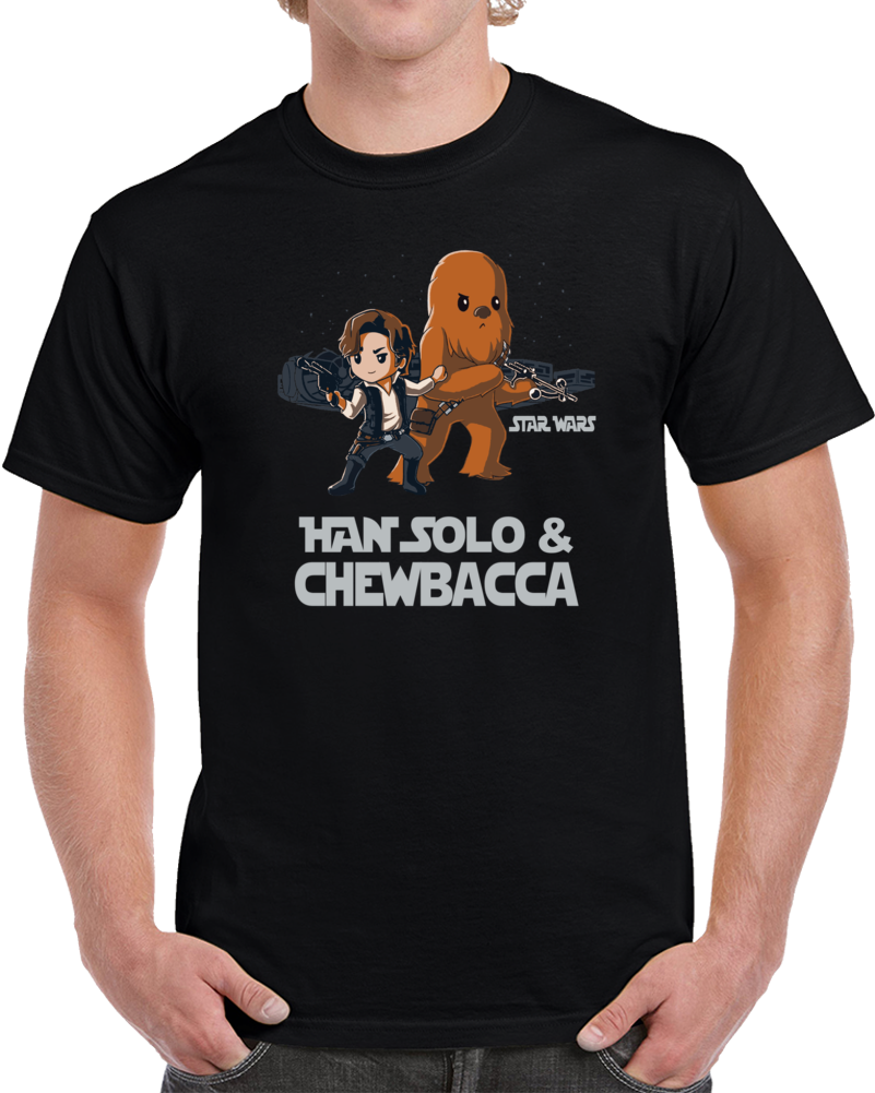 Han Solo And Chewbacca Star Wars  T Shirt