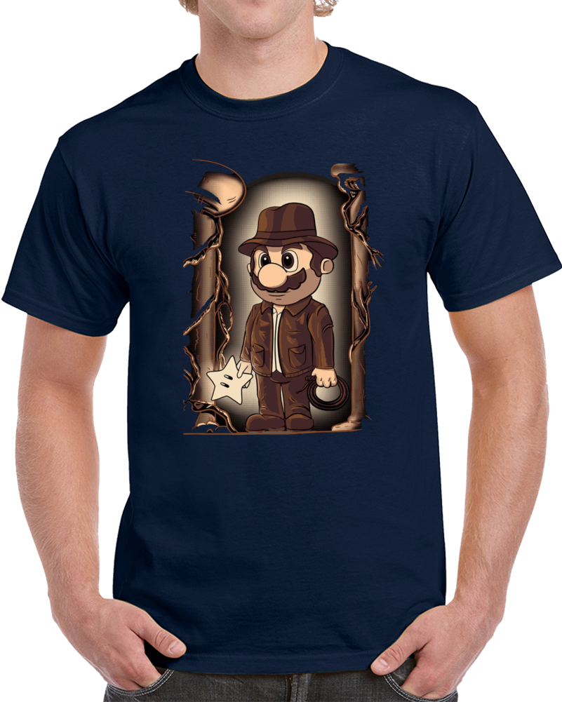 Mario The Plumber Of The Lost Star Indiana Jones  T Shirt