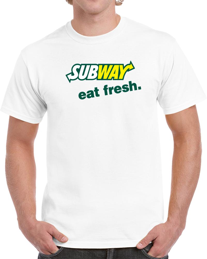 Subway Logo Eat Fresh   T Shirt