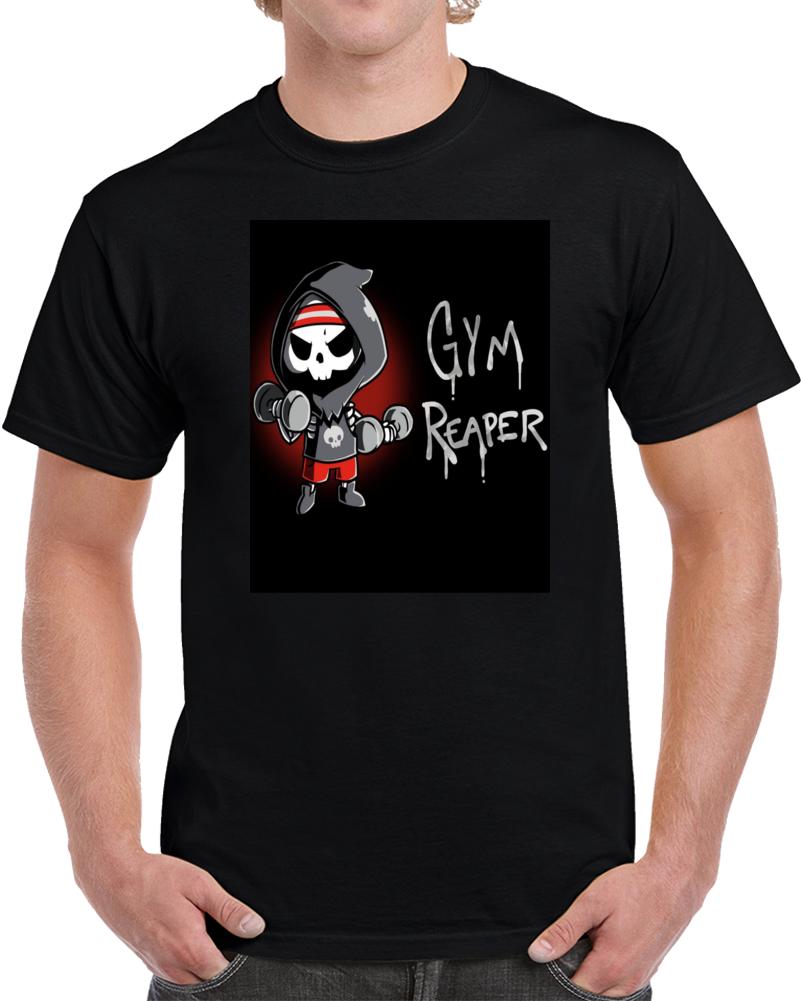 Gym Reaper Skull Halloween  T Shirt