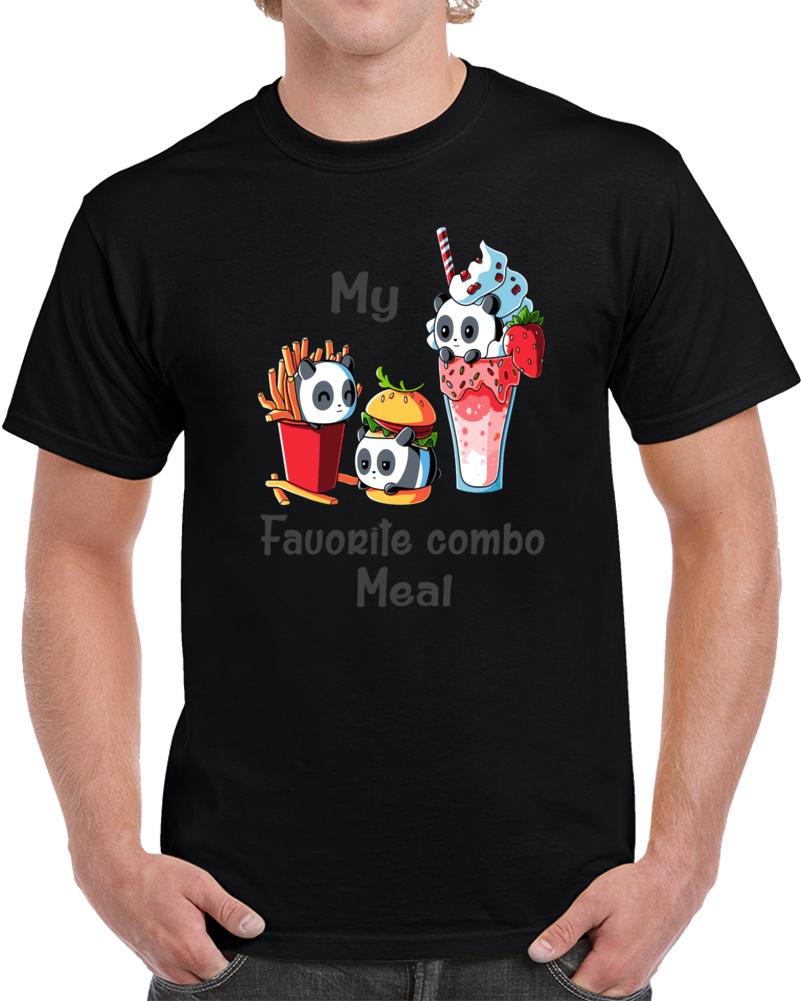 My Favorite Combo Meal Panda Fries Hamburger Milkshake T Shirt
