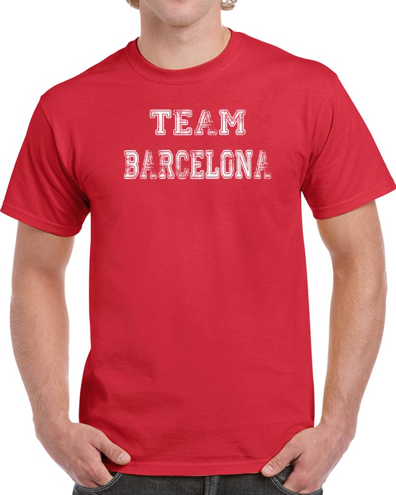 Team Barcelona Soccer T Shirt