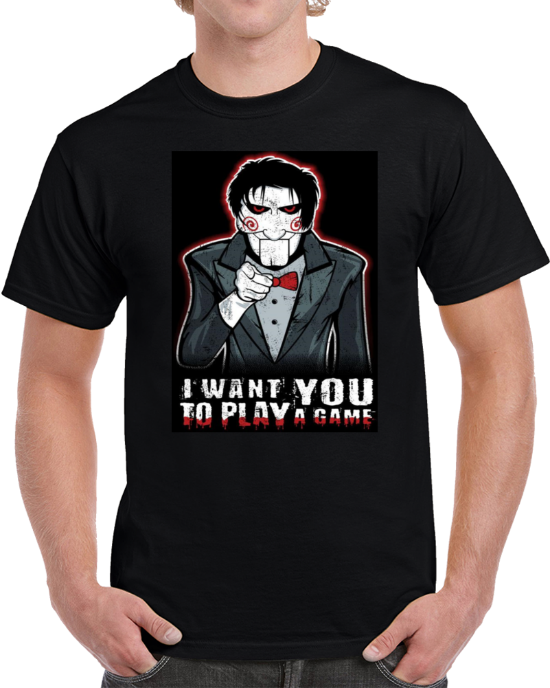 Saw Jigsaw I Want You To Play A Game  T Shirt