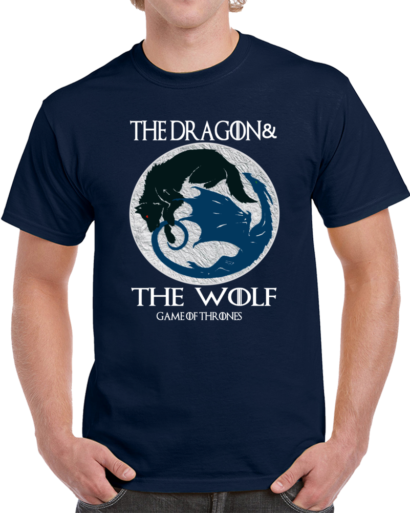 The Dragon And The Wolf Game Of Thrones  T Shirt