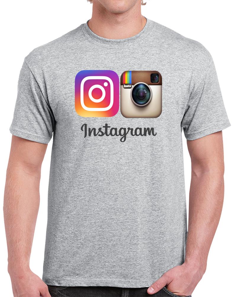 Instagram Camera Logo  T Shirt