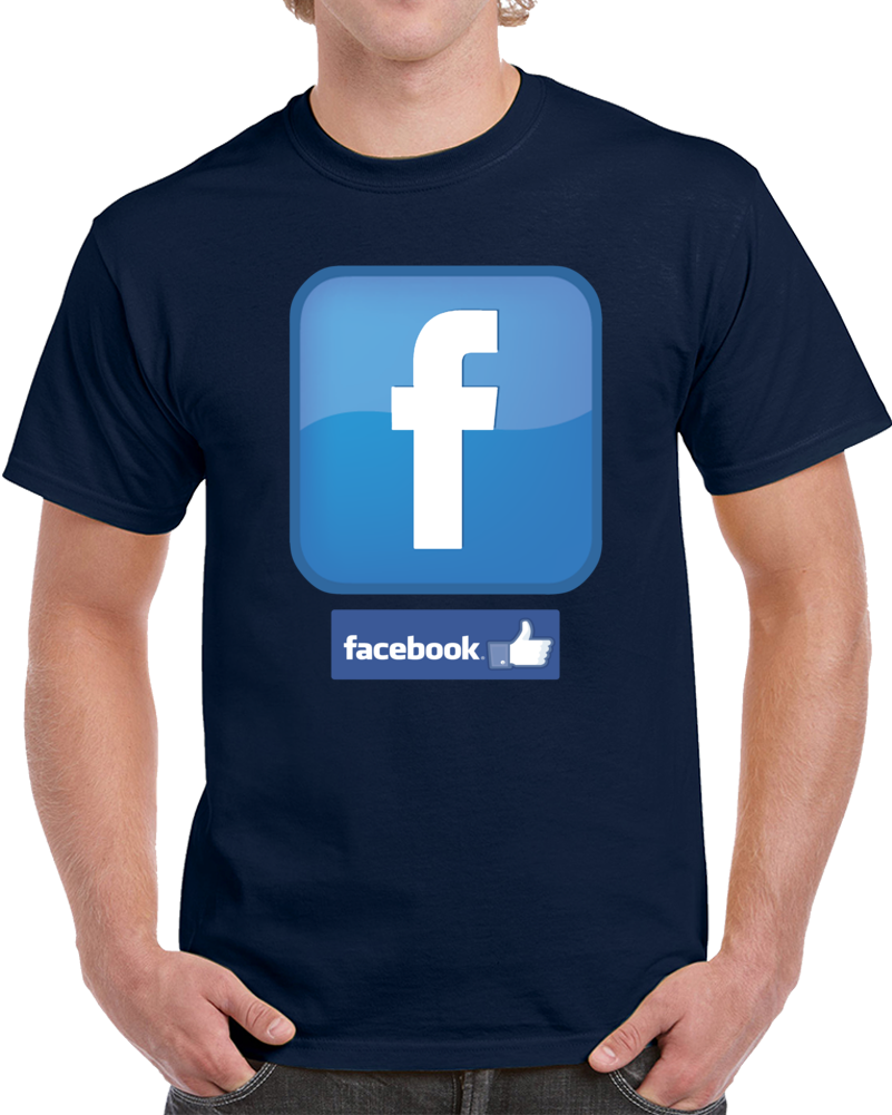 Face Book Logo   T Shirt