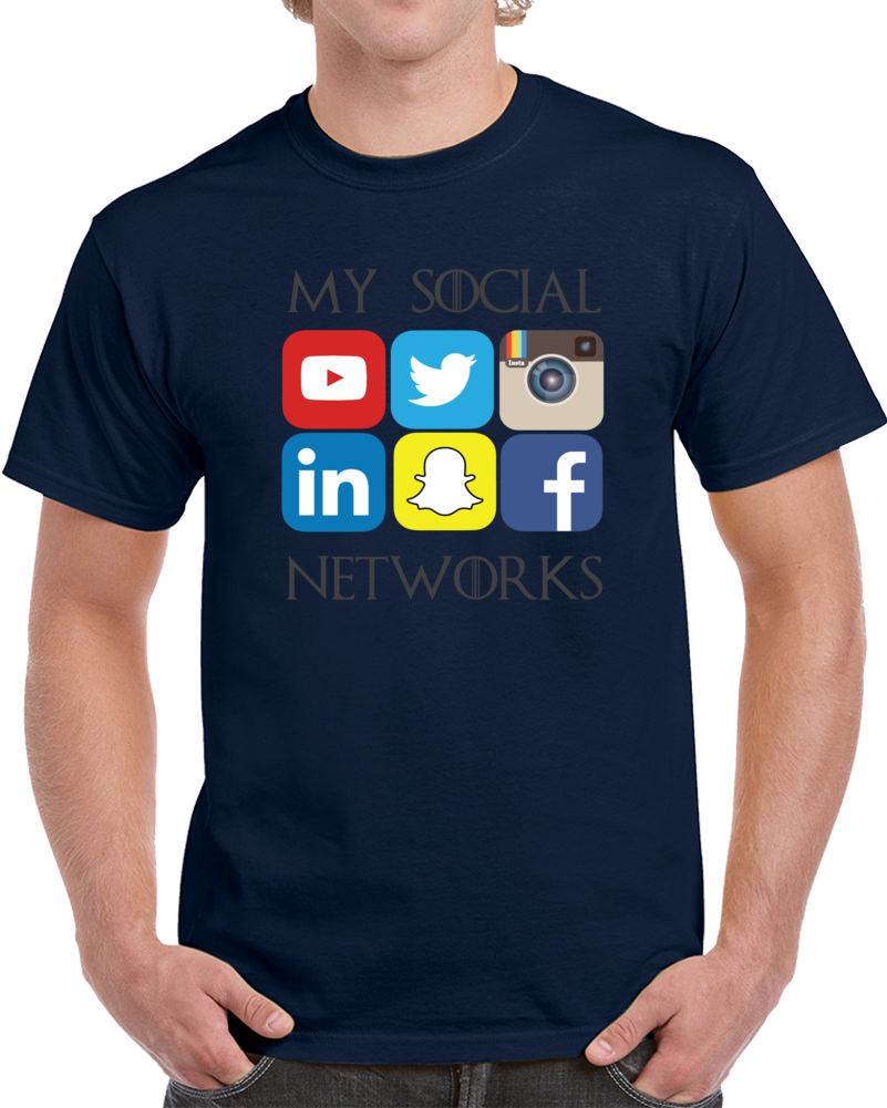 My Social Networks Media Logos  T Shirt