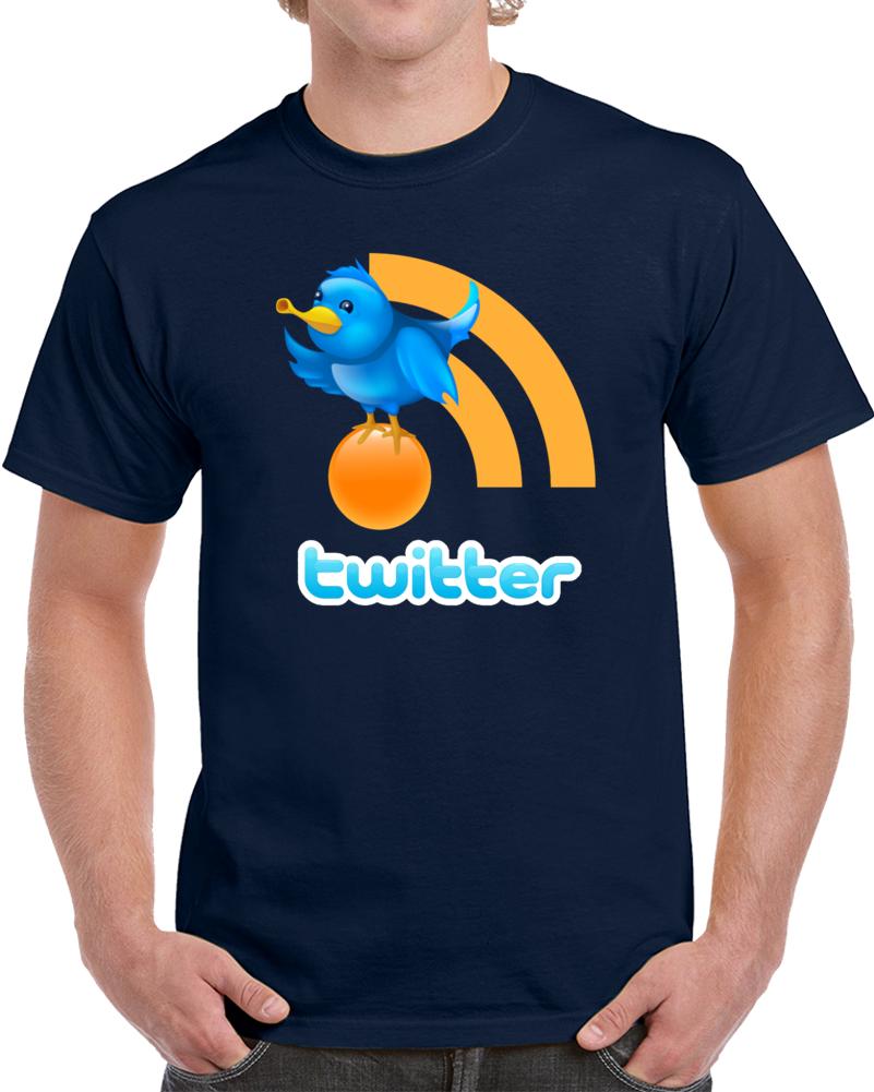 Twitter Network Logo   T Shirt