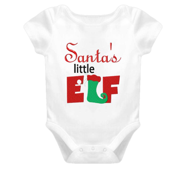 Santa Little Elf  Baby One Piece