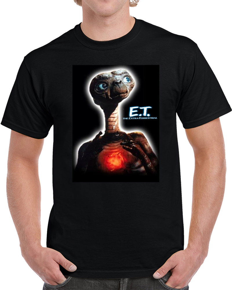 E.T. E T The Extra Terrestrial  T Shirt