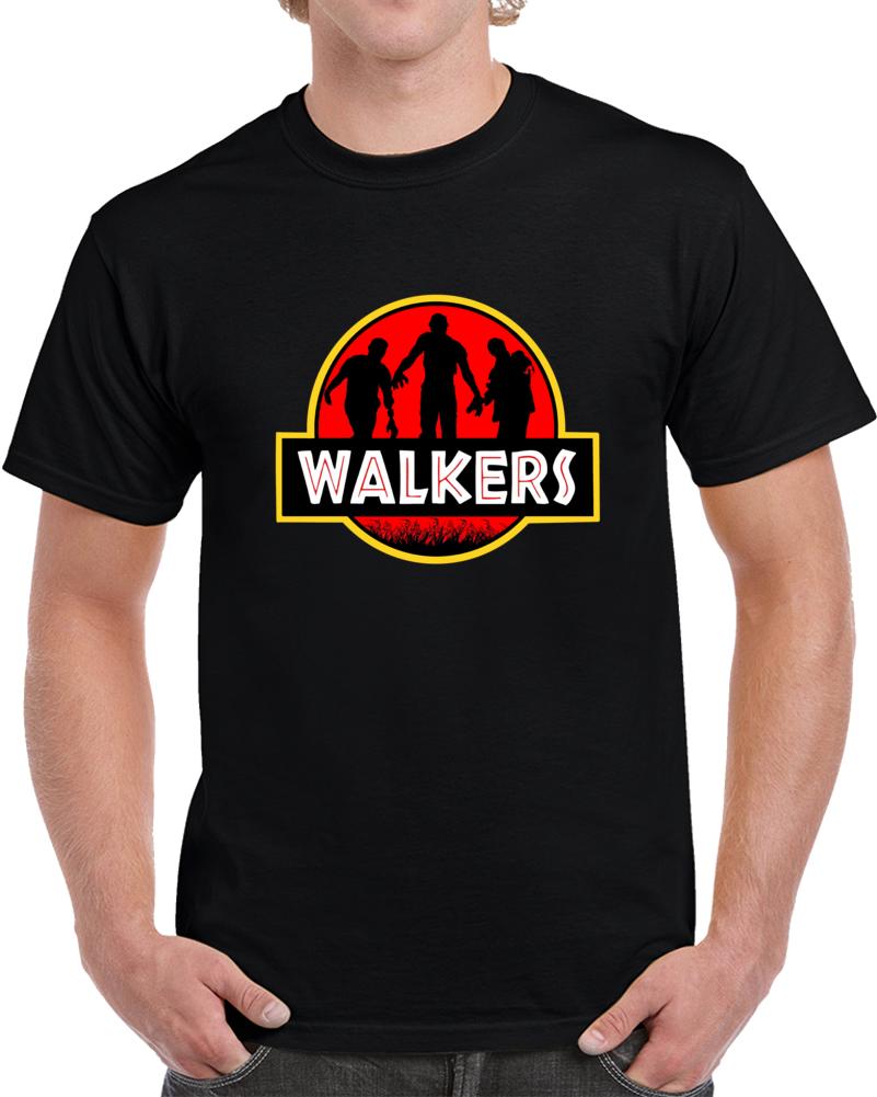 Jurassic Walkers Walking Dead Park  T Shirt