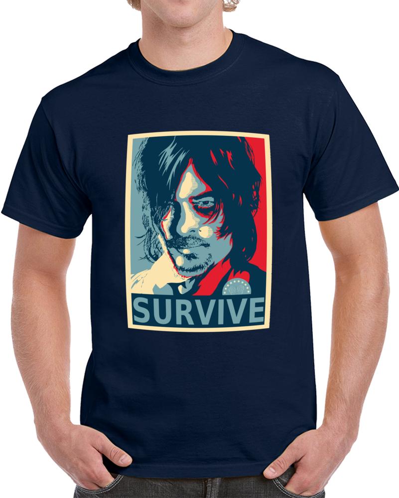 Walking Dead Daryl Dixon Hes No Ones Bitch  T Shirt