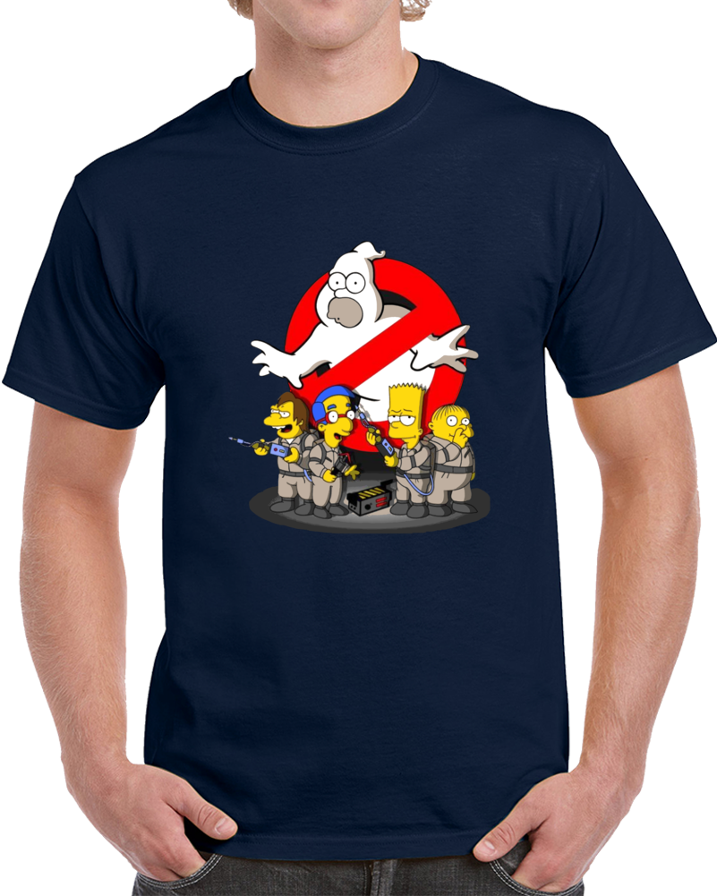 Ghostbusters Simpsons  T Shirt