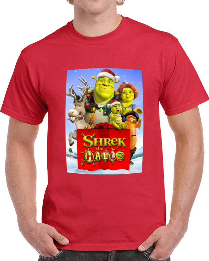 Shrek The Halls Christmas  T Shirt