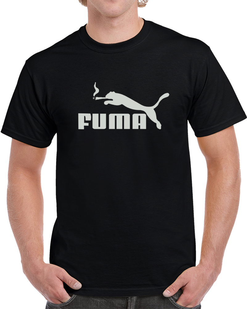 Fuma Puma Logo Smoking  T Shirt