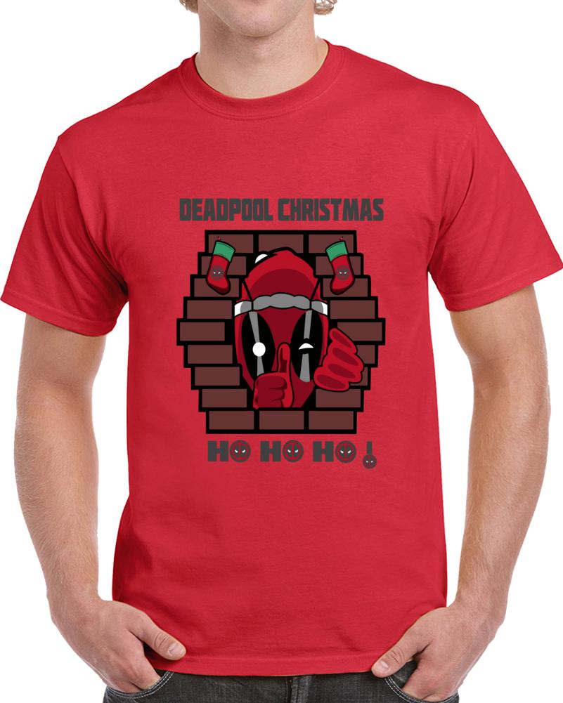 Deadpool Christmas Ho Ho Ho  T Shirt