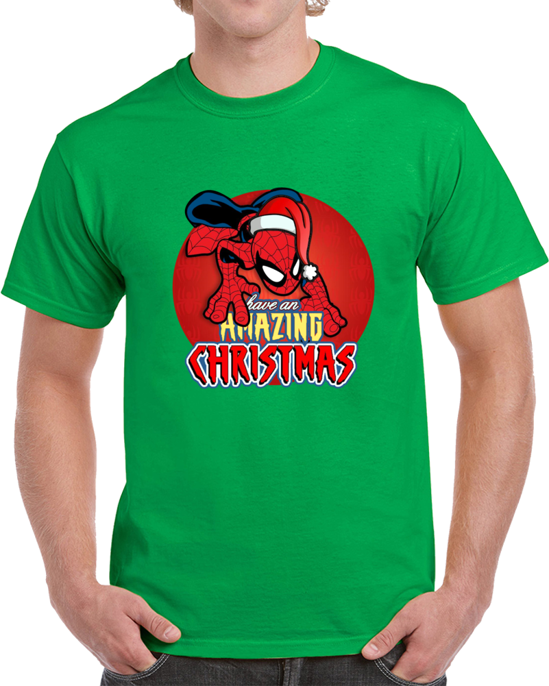 Spiderman Have An Amazing Christmas  T Shirt