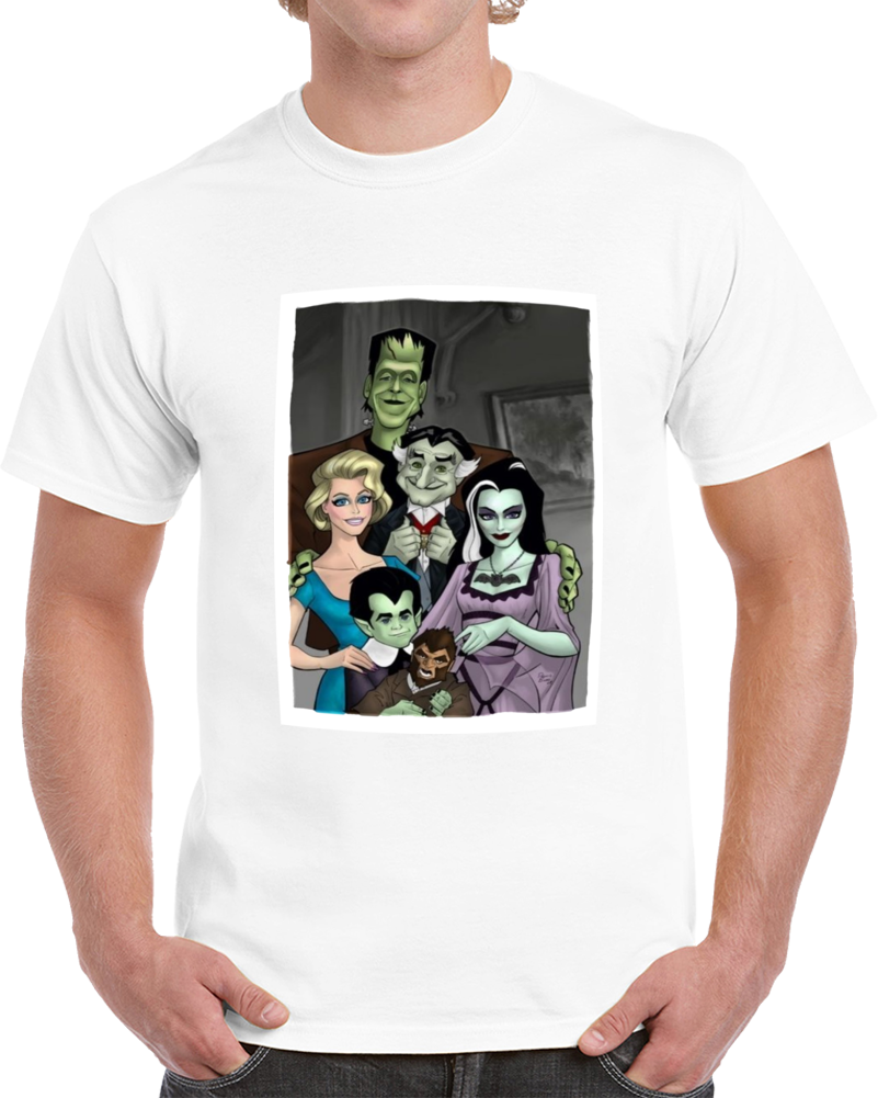 The Munsters Adam Family Cartoon  T Shirt