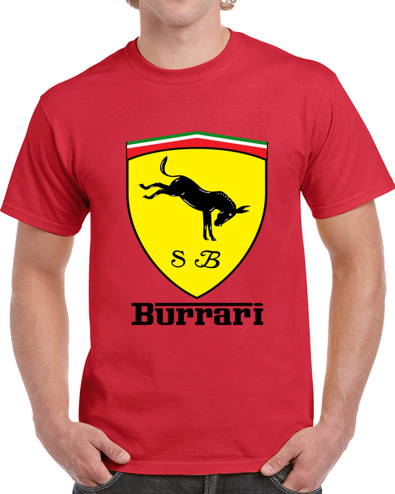 Burrari Sb Ferrari Logo  T Shirt