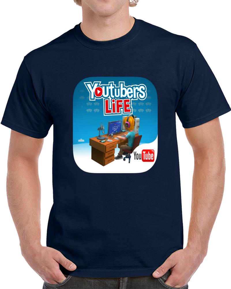 Youtubers Life Desk Youtube   T Shirt