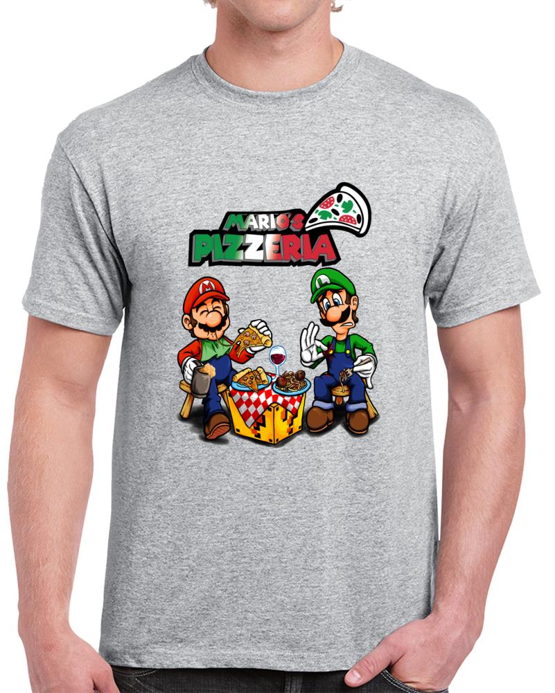 Mario Bross Pizza  Pizzeria   T Shirt