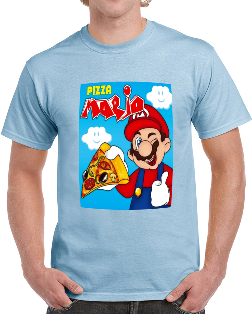 Pizza Mario Bross  T Shirt