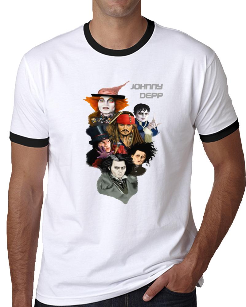 Johnny Depp Characters T Shirt