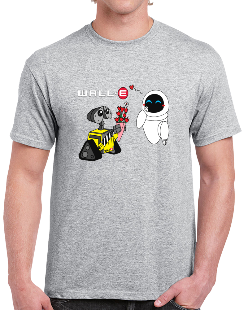 Walle Wall E And Eve  T Shirt