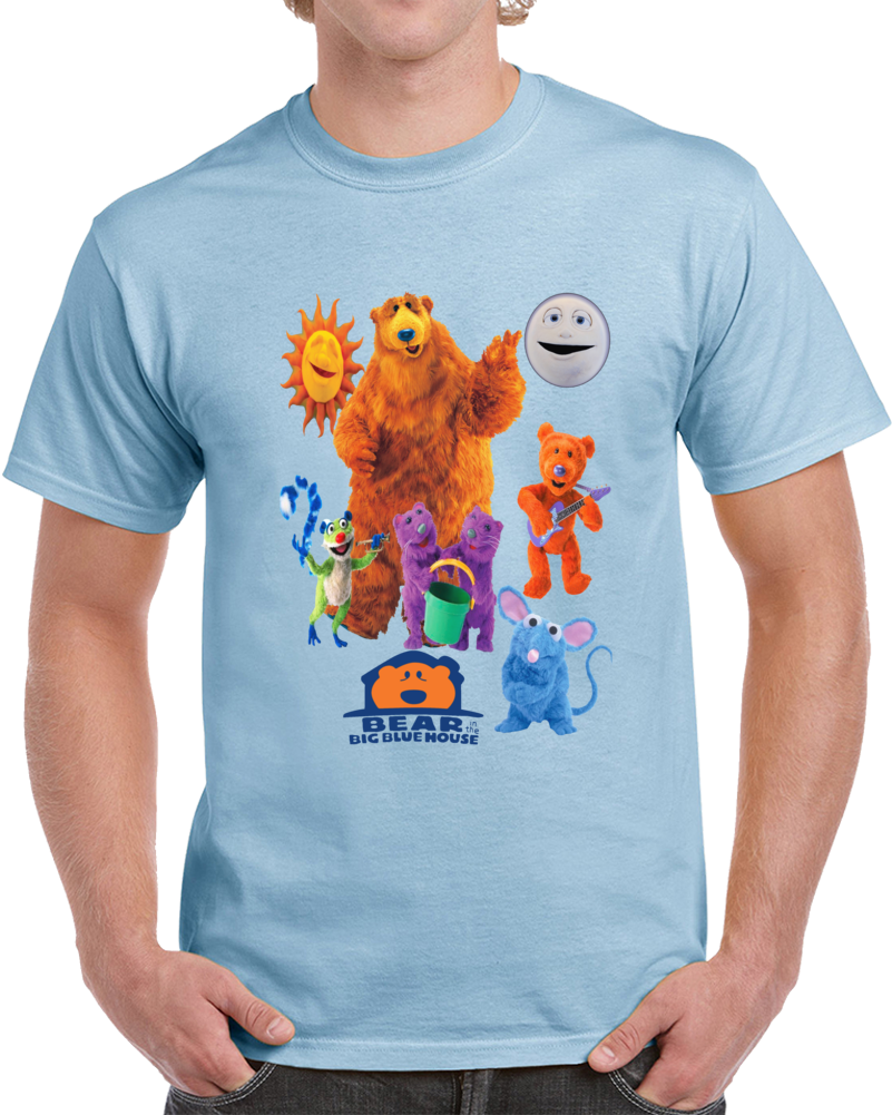 Bear In The Big Blue House Friends  T Shirt