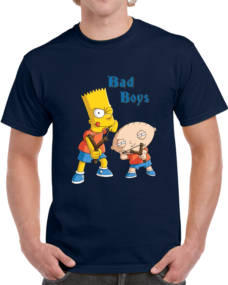 Bart Simpson And Stewie Griffin Together   T Shirt