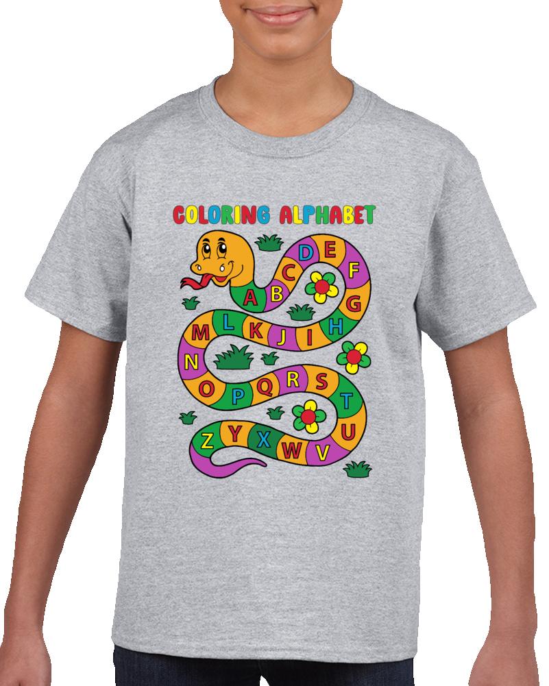 Coloring Alphabet  T Shirt