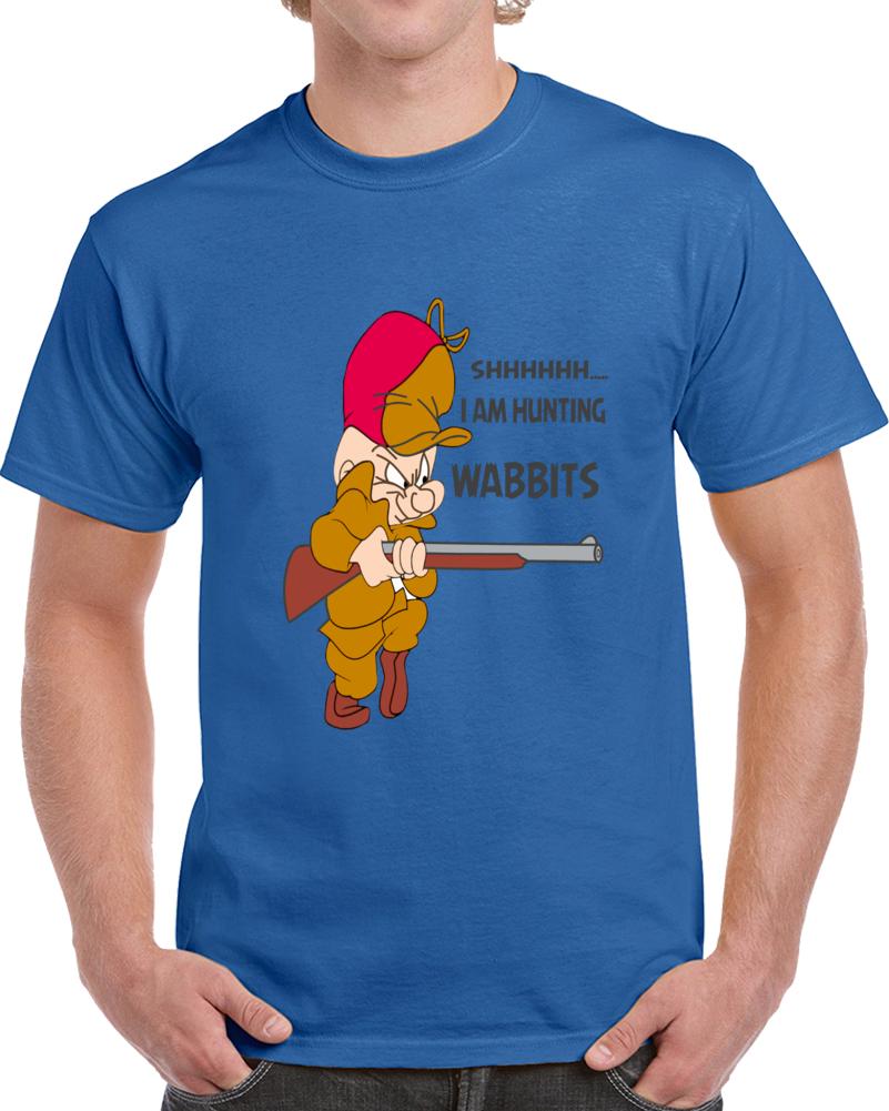 Elmer Fudd I Am Hunting Wabbits  T Shirt