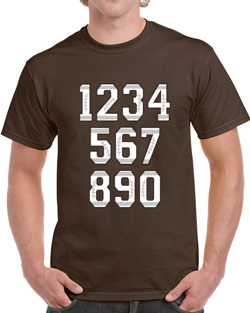 Football Numbers   T Shirt