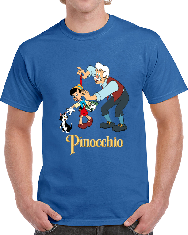 Pinocchio Geppetto And The Cat T Shirt