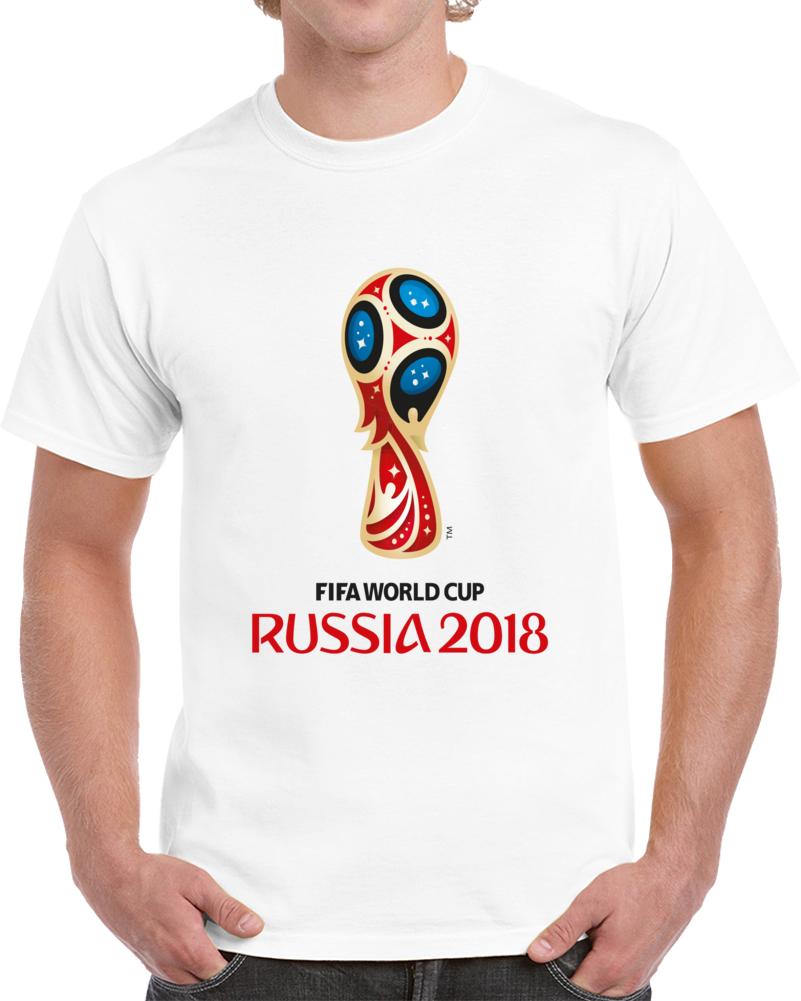 Fifa World Cup Logo Russia 2018. T Shirt