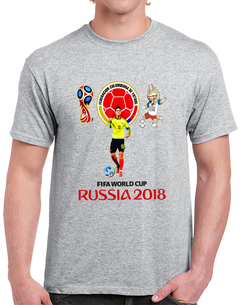 James Rodriguez Russia 2018 T Shirt