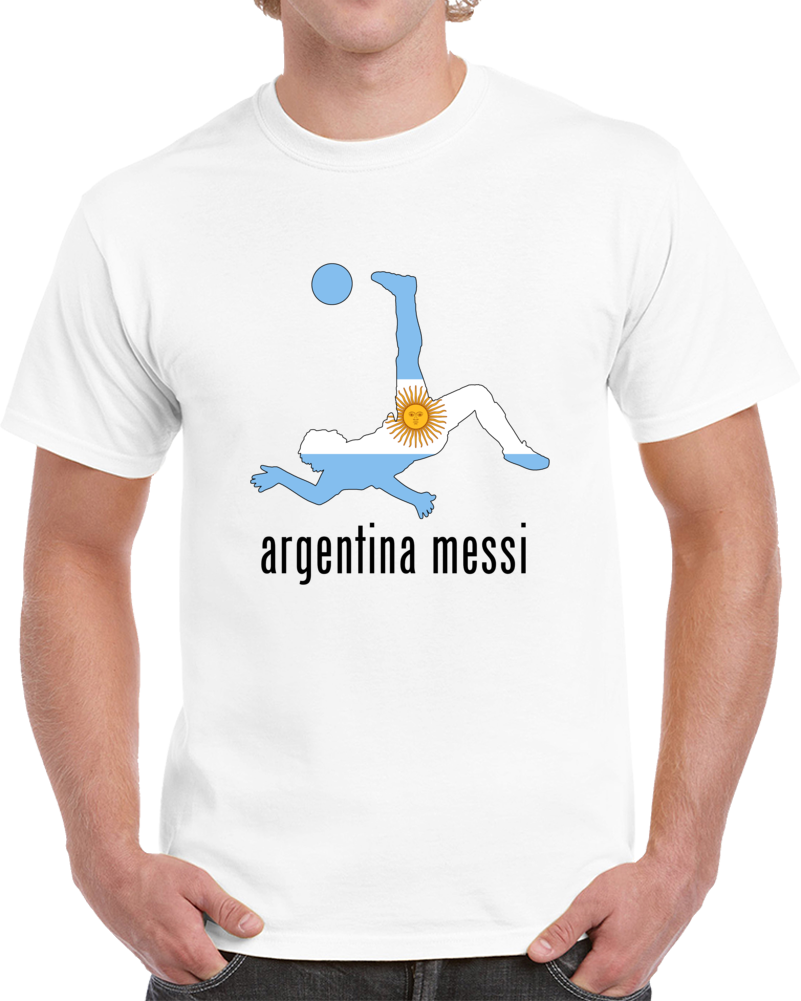 Argentina Messi Soccer Player Jugador  T Shirt
