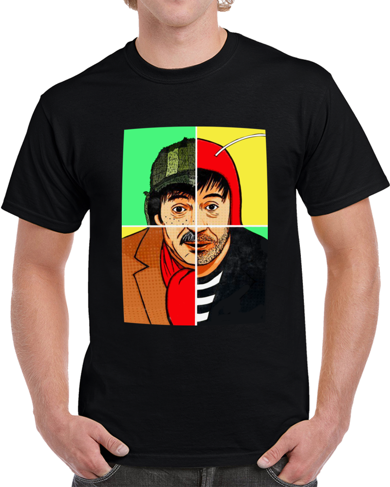 Chespirito 4 Cuatro Personajes T Shirt