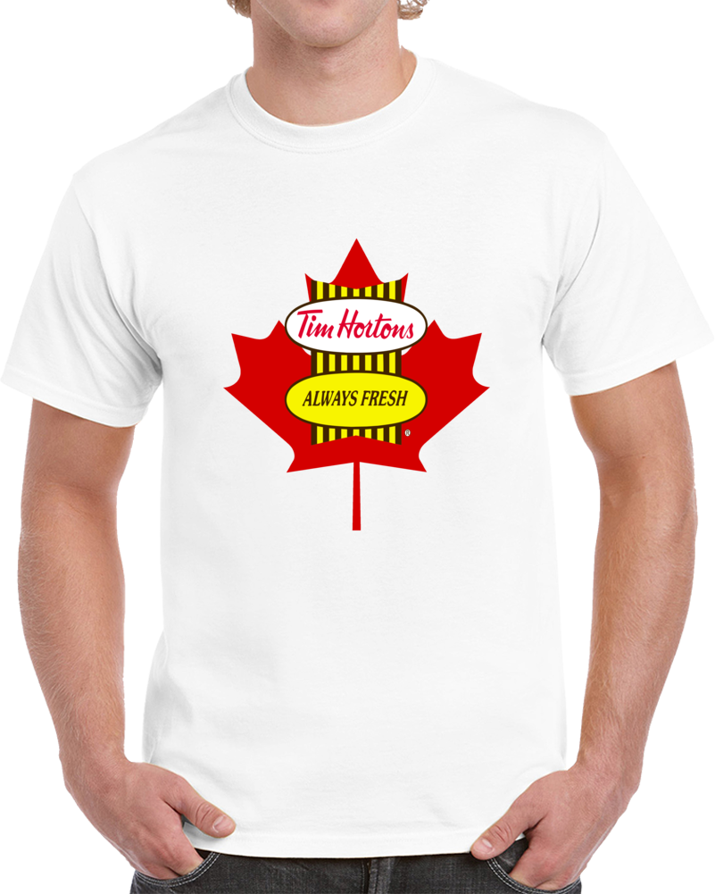 Tim Hortons Always Fresh Canada Flag T Shirt