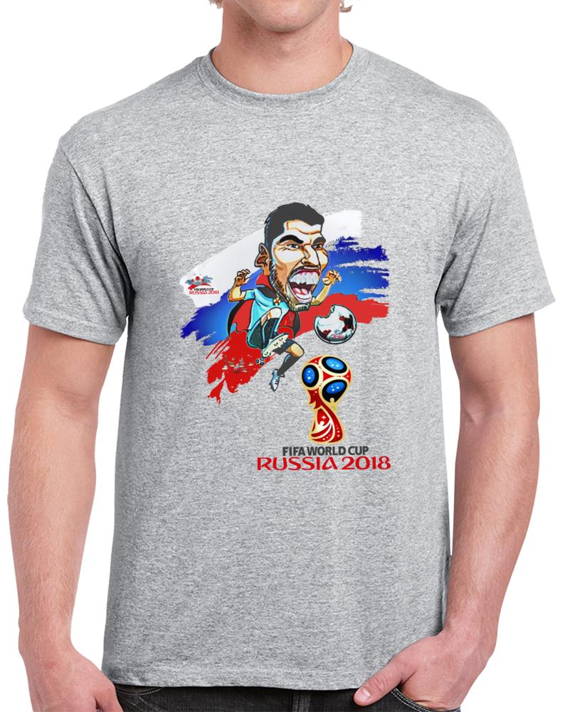 Luis Suarez Uruguay Rusia T Shirt
