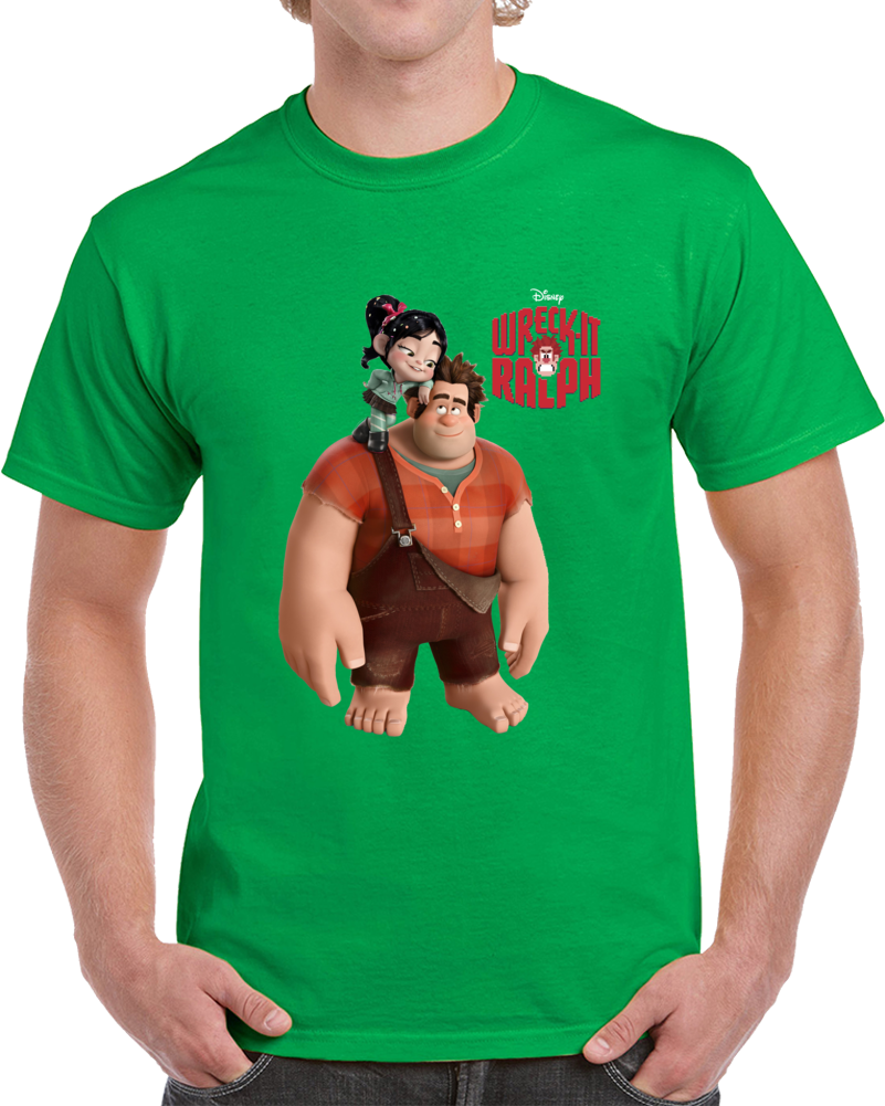 Disney Men/'s Wreck It Ralph Merida et Vanellope T-Shirt
