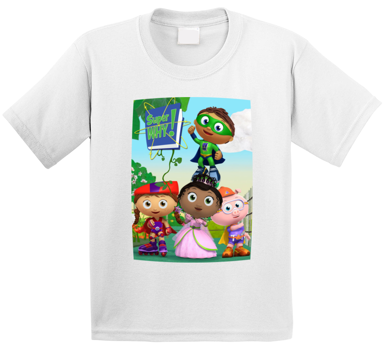 Super Why 4 Characters  T Shirt