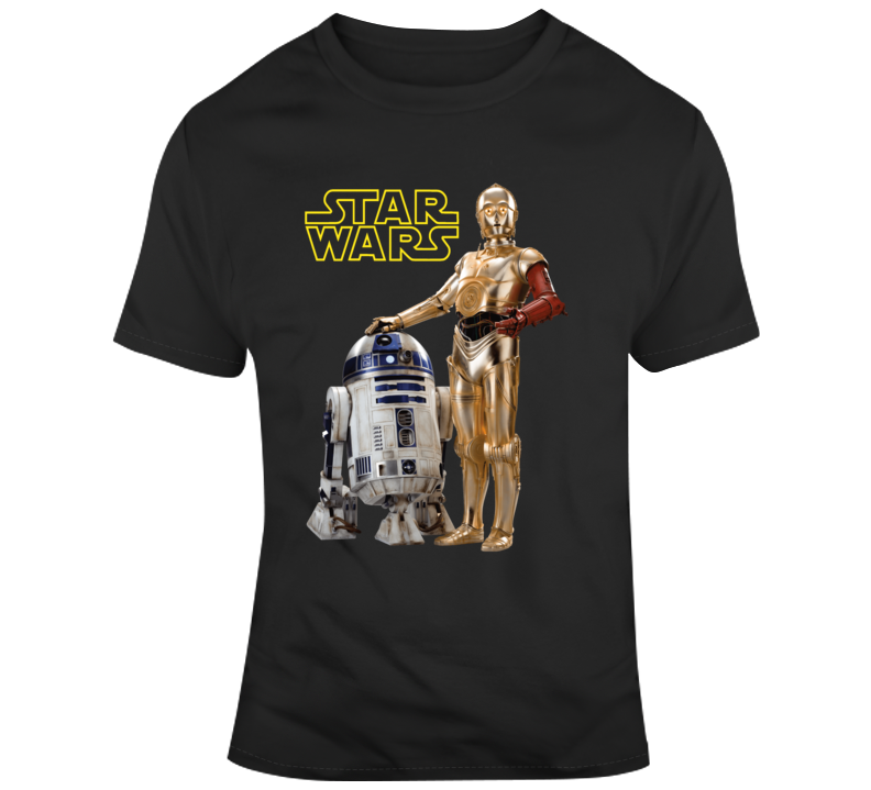 R2d2 C3po Star Wars  T Shirt