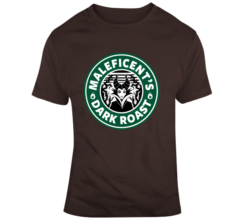 Maleficent Dark Rost Coffee  T Shirt