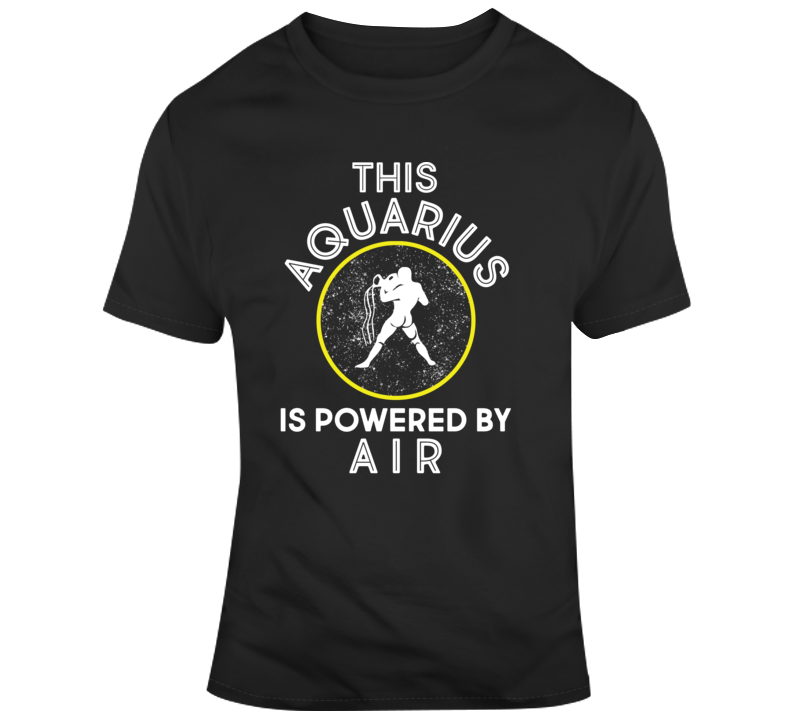 Aquarius Powered By Air T Shirt