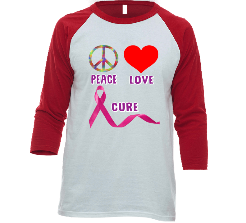 Peace Love Cure T Shirt