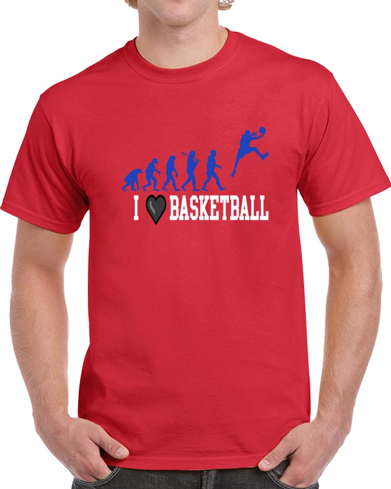 I Love Basketball  T Shirt