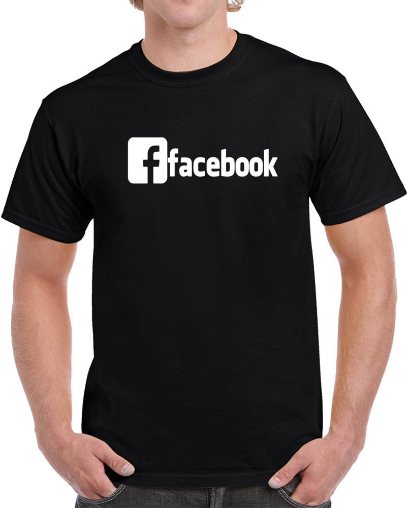 Facebook Logo White T Shirt
