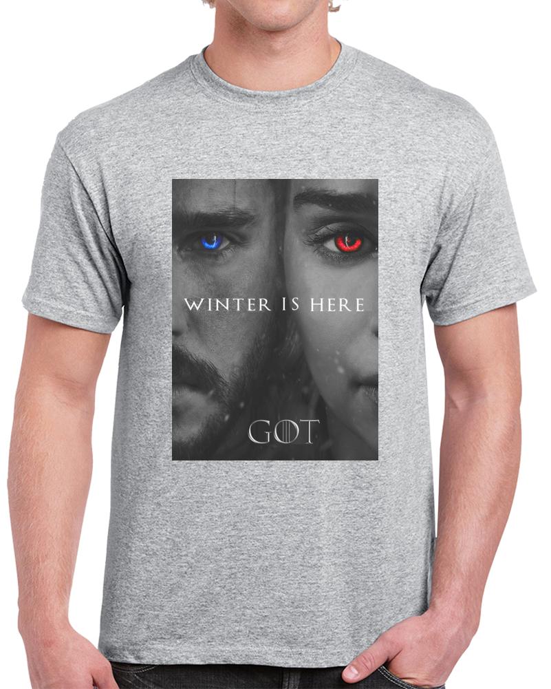 Winter Is Here Jon Daenarerys  T Shirt